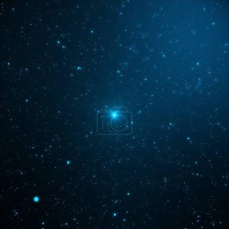 Photo pour Univers rempli d'étoiles, nébuleuse et galaxy. Gros plan façon galaxie avec étoiles et de la poussière de l'espace dans l'univers. Fond bleu de l'espace. Ciel bleu nuit avec étoiles, rendu 3d - image libre de droit
