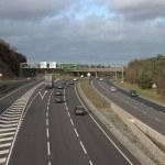 Постер, плакат: The Devon Expressway with traffic flowing towards Exeter in Devon England UK