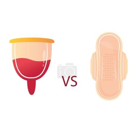 Modern vector illustration of feminine hygiene pro...