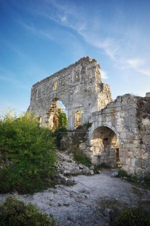 Crimea,  ruins citadel on top of mountain Mangup Kale