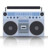 Vector flat illustration Boombox Cassette recorder