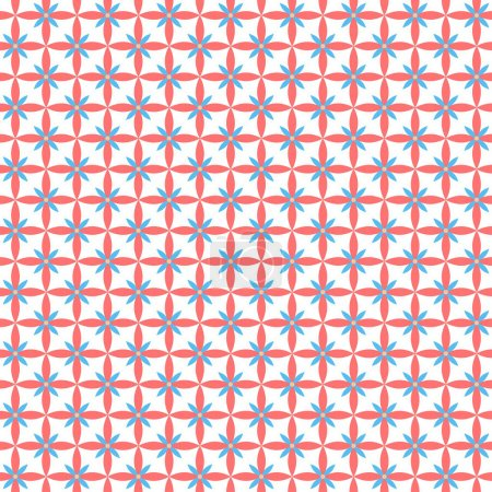 Flat Seamless texture with flowers