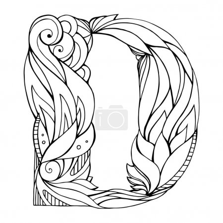 drawing capital letter D