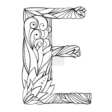 drawing capital letter E