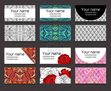 Set of horizontal business cards templates