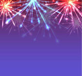 New Year multicolored fireworks with sparks