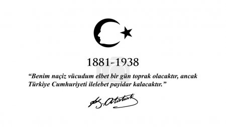 November 10 Ataturk Commemoration Day and Ataturk week.