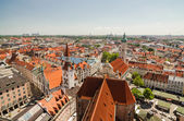 Panoramic view of the Old Town architecture of Munich, Bavaria, Germany