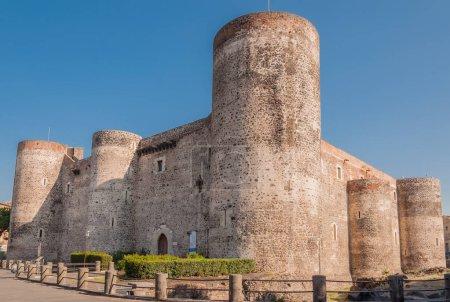 Panorama of the Castello Ursino, also known as Castello Svevo di Catania, is a castle in Catania