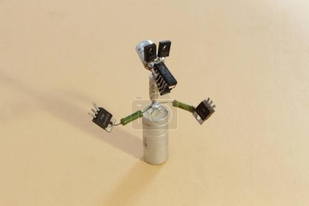 Photo for Homemade toy animal from old radio components - Royalty Free Image