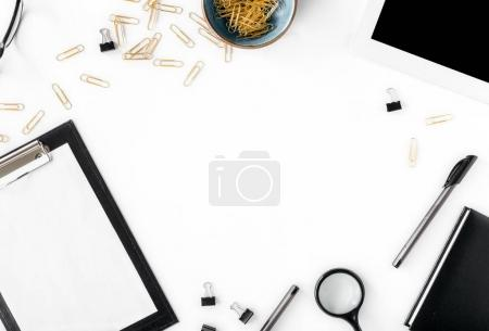 Frame of tablet, clipboard, office accessories