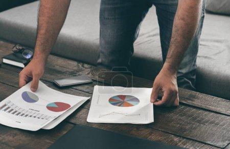 Man analyzes the sales report