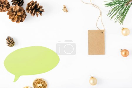 Flat lay christmas composition