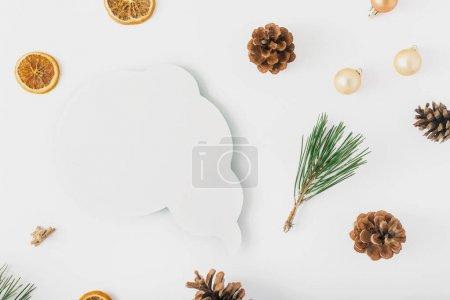 Christmas tree, cones