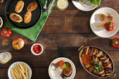 """Постер, картина, фотообои """"Вегетарианский стол обеденный концепция"""""""