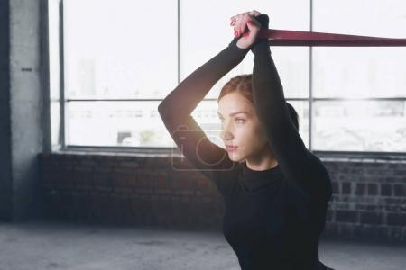 Woman athlete doing exercise