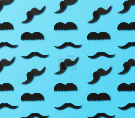 Father's Day concept. Paper mustaches