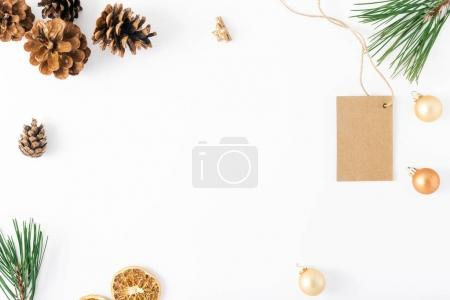 Frame of price tag and decorations