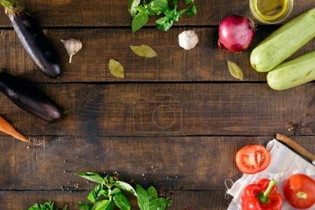 Frame of different vegetables