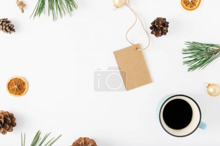 cup of coffee and decorations
