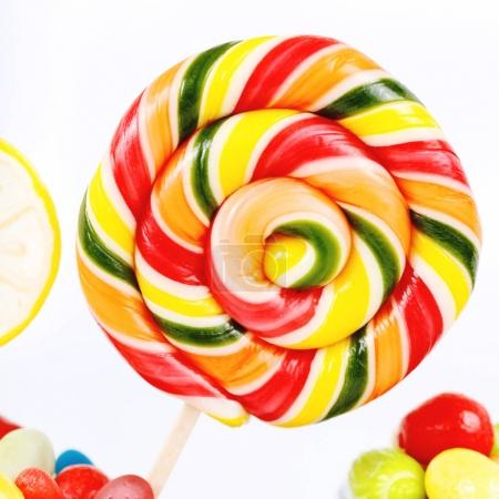 Lollipops, candies and chewing gums