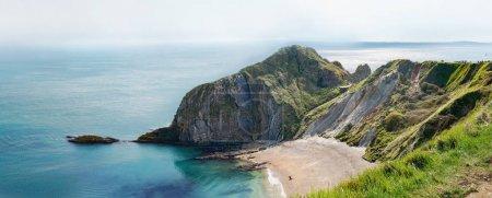 Man of War Bay encloses Man O'War Cove on the Dorset coast