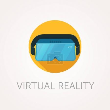 Photo pour Icône casque VR. Verre de réalité virtuelle. Design de style plat - image libre de droit