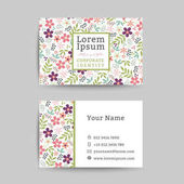 Floral business name card design template