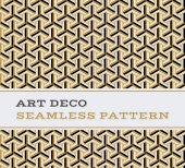 Art Deco seamless pattern  black white and gold colours 05