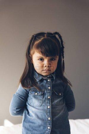 Portrait of beautiful sad girl.