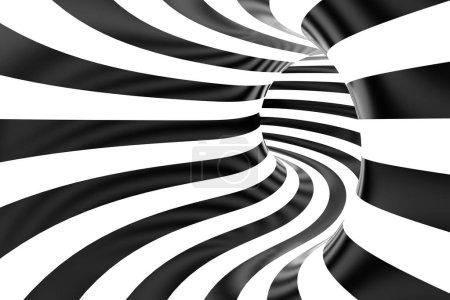 Tubular black and white background.
