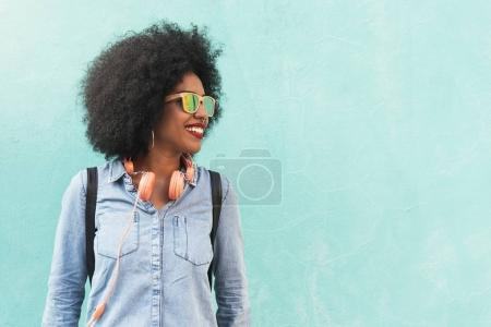 Portrait of beautiful afro american woman.