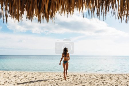 Young woman relax on the beach.
