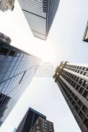 Different view of skyscraper. New York Concept.