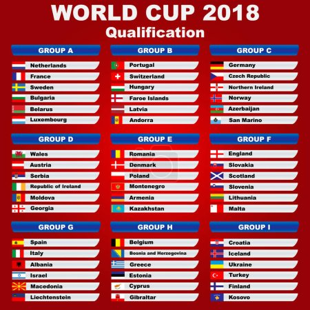 World Cup 2018. Europe qualification.