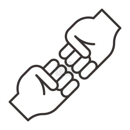 High five icon illustration