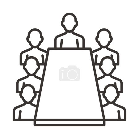 Illustration for Business meeting icon, vector illustration - Royalty Free Image