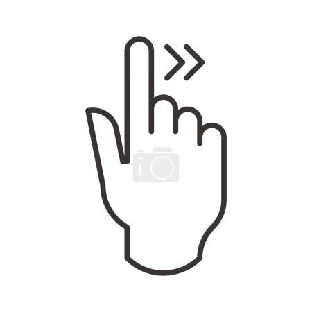 Illustration for Touch gesture icon, vector illustration - Royalty Free Image