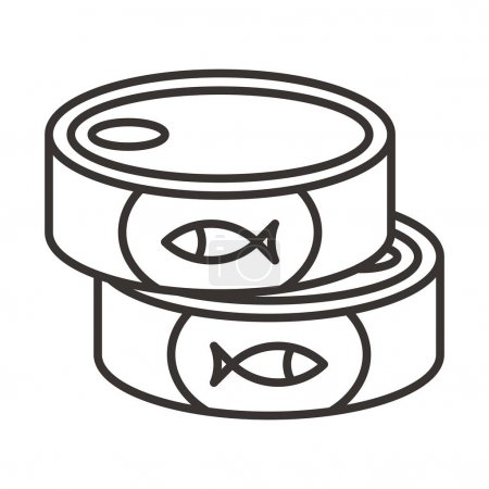 Illustration for Canned fish icon vector illustration - Royalty Free Image