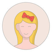 Cartoon girl icon