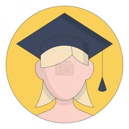 Cartoon girl icon