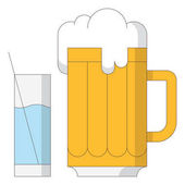 Vector illustration design of beer icon isolated on white background