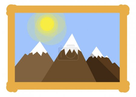 Frame with mountains icon