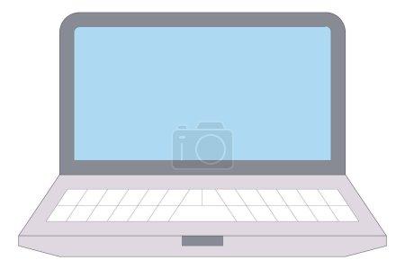 illustration modern laptop
