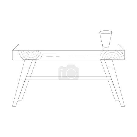 Table icon illustration