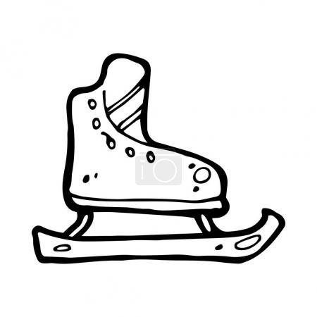 hand drawn ice skates