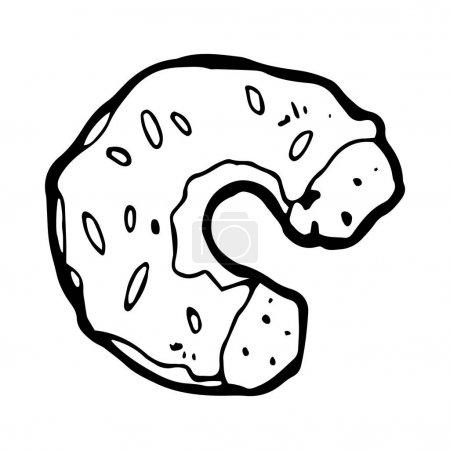 illustration of a glazed donut