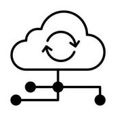 Cloud service icon vector illustration