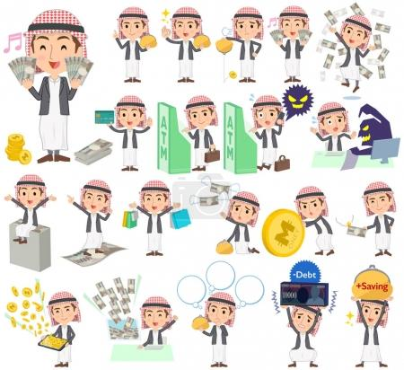 Arab man jacket Style money