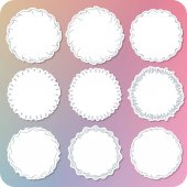 Set of various hand paint girly frame label 02